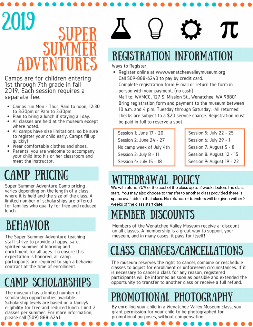 Super Summer Adventures - Summer Camp policies