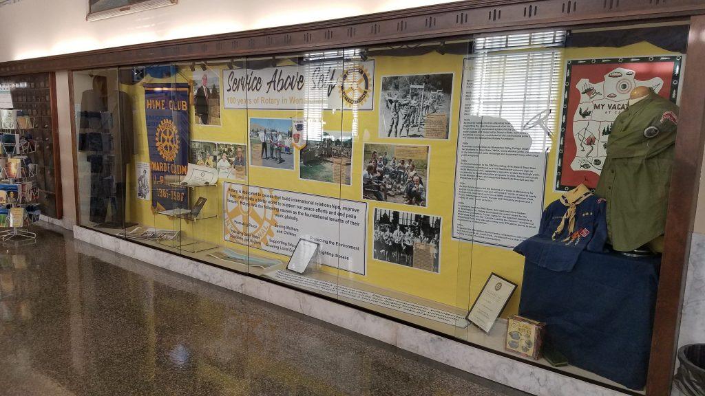 Rotary Lobby Case Photo